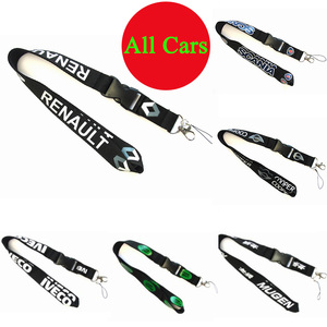 With Car Brand Logo Lanyard Neck Strap KeyChain for Phones Neck Strap Lanyard Id Badge Holder for Renault Scania MINI Cooper(China)