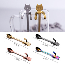 Tableware Scoop Tea-Spoon Dessert Ice-Cream 304-Stainless-Steel Cartoon Hanging-Cup Mug
