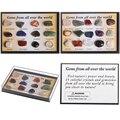 12/15 шт. 1 коробка, натуральный минеральный образец, подарок, полированный камень, необработанные драгоценные камни, кварцевый кристалл, колл...