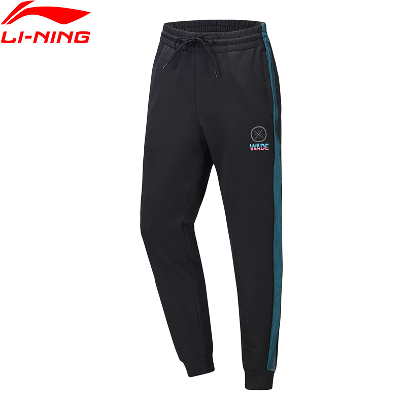 Li-Ning Men Wade Sweat Pants Regular Fit 53% Polyester 39% Cotton 8% Spandex LiNing Li Ning Sport Trousers AKLQ203 MKY549