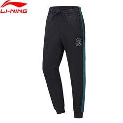 Li-ning serie Wade pantalones de sudor Regular Fit 53% poliéster 39% algodón 8% Spandex forro cómodo Pantalones deportivos AKLQ203 MKY549