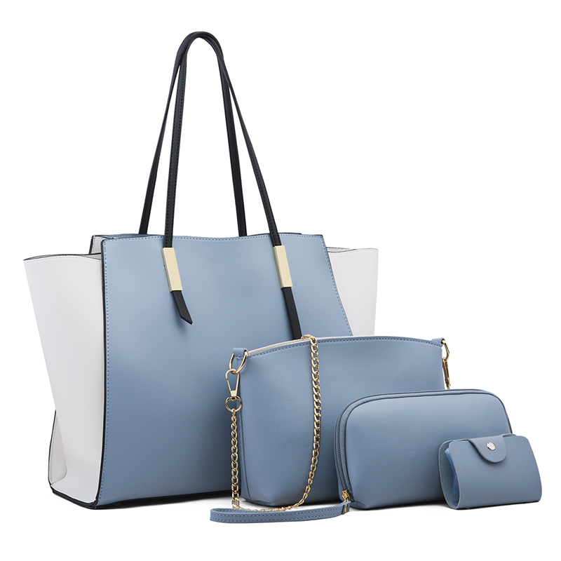 Ceossman New 4pcs/Set Ladies Handbags Female PU Leather Shoulder Messenger Bags Women Composite Bags Tote Bag bolsa feminina