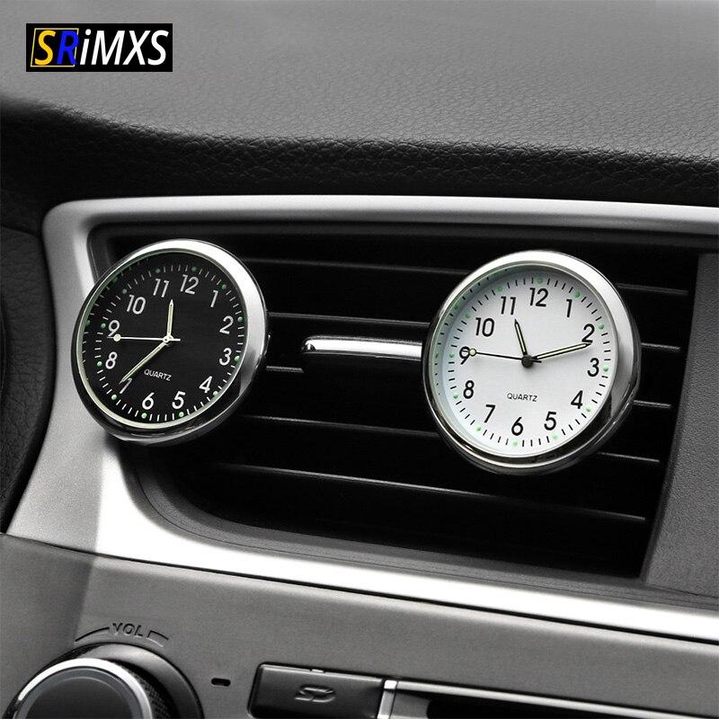 Car Ornament Car Clock Quartz Clock Auto Watch Decorative Car Air Vent Watch Car Styling Car Interior Accessories