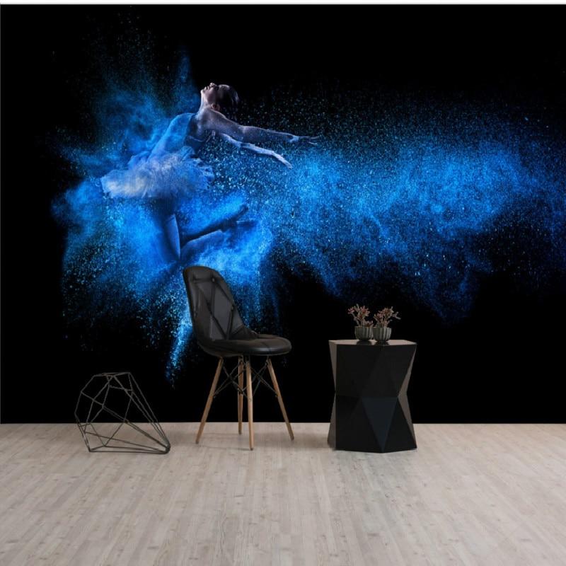 Us 1159 38 Offdropship Custom 3d Mural Wallpaper Hd High Definition Dance Room Yoga Gym Fantasy Swan Dance Background Wallpaper Painting In