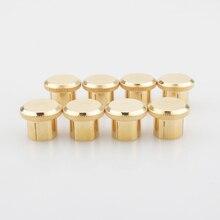 משלוח חינם 12pcs בלם רעש 24K זהב מצופה נחושת RCA Plug Caps למעלה איכות תחת הבלעה
