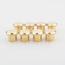 Frete grátis 12 pçs rca rca plug tampões de cobre banhado a ouro rolha ruído 24 k qualidade superior sob embutimento