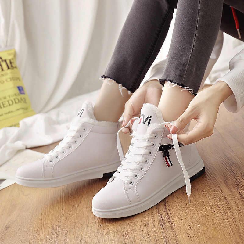 2019 ฤดูหนาวรองเท้าผู้หญิงข้อเท้ารองเท้าอุ่นฤดูหนาวรองเท้าผู้หญิงรองเท้าผ้าใบ LACE UP ผู้หญิงรองเท้าสตรีรองเท้าบู๊ตหิมะ