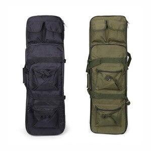 Image 2 - Outdoor Militaire Jacht Schieten Tas Nylon 81 Cm Tactische Zak Vierkante Carry Gun Bag Hand Gun Accessoire Bescherming Case Rugzak