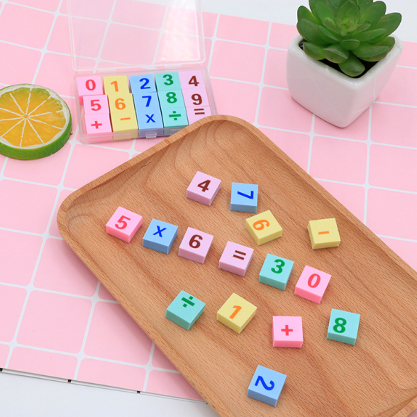 15pcs/lot Cute Little Rubber Gift Stationery Learning For Kid  Colorful Rubber School Stationery
