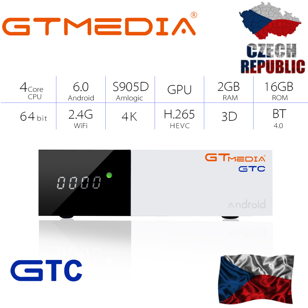 GTMEDIA GTC <font><b>TV</b></font> BOC <font><b>DVB</b></font>-<font><b>S2</b></font> <font><b>DVB</b></font>-C <font><b>DVB</b></font>-T2 Amlogic S905D ISDBT <font><b>android</b></font> 6.0 <font><b>TV</b></font> <font><b>BOX</b></font> 2GB 16GB +1 Year <font><b>cccam</b></font> <font><b>Satellite</b></font> <font><b>Receiver</b></font> <font><b>TV</b></font> <font><b>Box</b></font> image