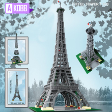 In stock City Street view Eiffel Tower Building Blocks with 10181 17002 for DIY