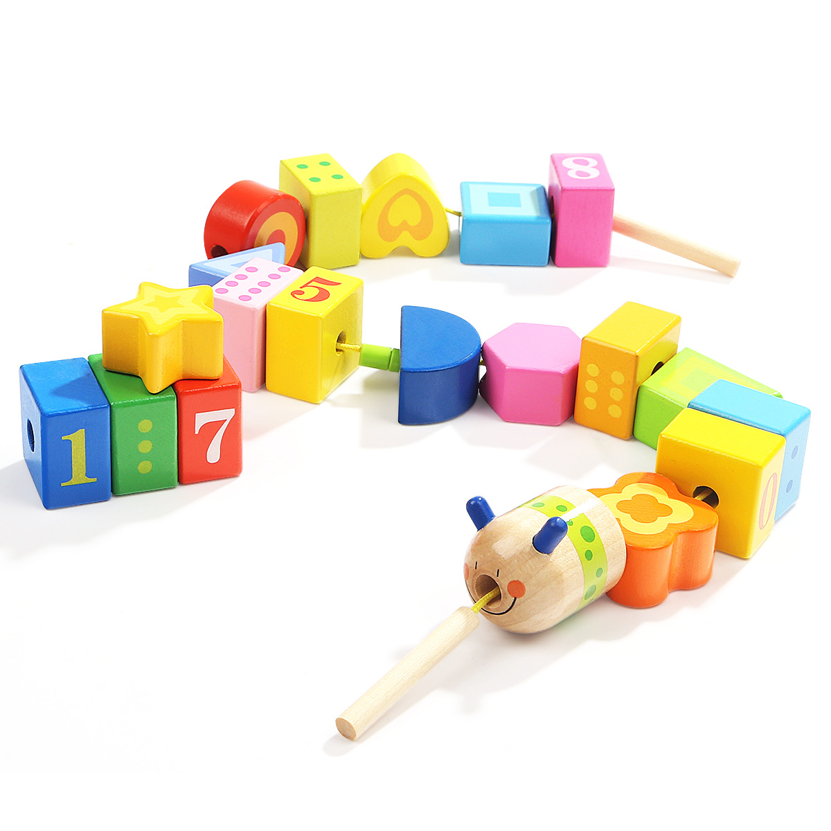1-2-3-Year-Old Building Blocks Beads Baby Children Chuan Chuan Zhu Toy Educational Wear Threading Or Two-Year-Old Men's Non-Unis