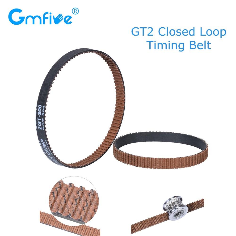 GmFive GT2 Closed-loop Timing Gear Belt Synchronous Belt Rubber 6mm 110 112 122 158 200 280 300 400 610 852mm For Ender 3