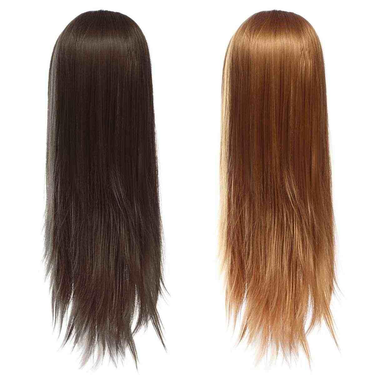 70cm Hair Kappers Training Mannequins Pruik Hoofd Professionele Salon Practice Head Kapper Hair Styling + Beugel