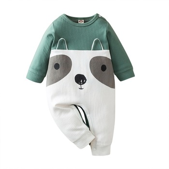 Autumn Baby Boys Romper Knitted Animal Long Sleeve Infant Rompers Jumpsuit Cotton Baby Rompers Newborn Clothes izabebe baby boys girls romper cotton long sleeve jumpsuit infant clothing autumn newborn baby clothes