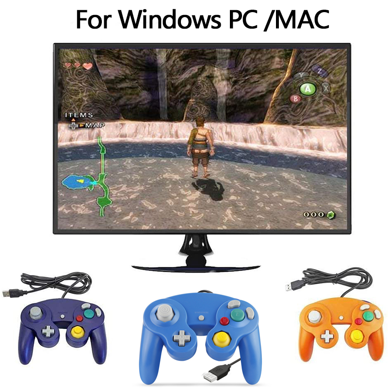For Gamecube Controller USB Wired Handheld Pubg Joystick For Nintendo For NGC GC Controller For Nintend MAC Computer PC Gamepad