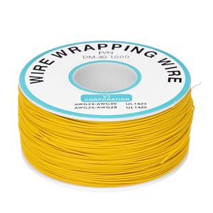 Enveloppe d'emballage de fil jaune | À souder, Flexible, 0.25mm, noyau Dia 30AWG, 820Ft