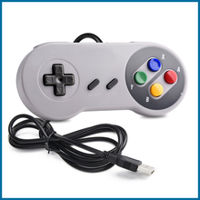 S ROBOT USB Controller Gamepad 2pcs Super Game Controller SNES USB Classic Gamepad Game joystick for raspberry pi RPI130 wireless gamdpad game joystick for super nintendo sfc snes classic portable console video game gamepad