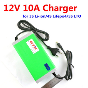 12V 10A battery 12.6v 10A li ion 3S battery charger 4S 14.6V 10A lifepo4 5S 14V 10A LTO Lithium titanate 6S 16.8V 10A charger(China)