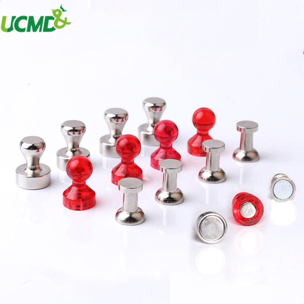 4pcs Strong Magnetic Thumbtacks Neodymium Noticeboard Skittle Pin Home Office Fridge Magnets Whiteboard Blackboard Decor Sticker