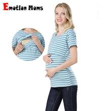 Emotion Moms Summer Maternity Tops Nursing Top Pregnancy Maternity Clothes Breastfeeding For Pregnant Women Nursing T-shirt цена и фото