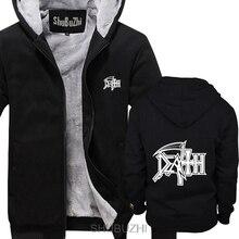 Толстые толстовки с капюшоном с логотипом смерти, рок-группа, тяжелый металл, Повседневная Новинка, забавные толстые толстовки, мужская зимняя куртка sbz4590
