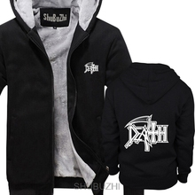 DEATH Logo thick hoodies ROCK BAND HEAVY METAL Casual Novelty Funny thick hoodies Mans winter jacket sbz4590