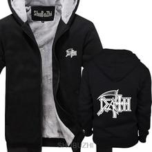 DEATH Logo thick hoodies ROCK BAND SCHWERE METALL Casual Neuheit Lustige dick hoodies Mann der winter jacke sbz4590