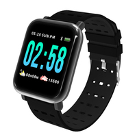 Rechargeable A6 Waterproof Smart Watch Men With Heart Rate Monitor Fitness Tracker 1.3 Inch IP67 Waterproof Sport Smartwatch|Smart Watches|Consumer Electronics -