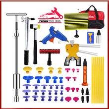 цена на PDR TOOLS KIT Paintless Dent Removal Puller Lifter PDR Tools Line Board Repair Hammer Hail Kit инструмент