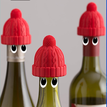 Little Red Riding Hood Wine Bottle Stopper Household Creative Silicone Glass Bottle Stopper Champagne Wine Stopper