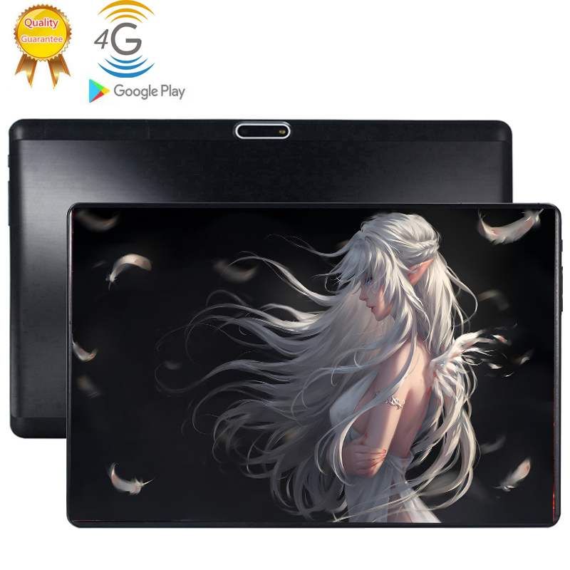 2020 4G LTE 2.5D Multi-touch Glass Screen 10.1 Inch Tablet Octa Core Tablet 6GB RAM 64GB ROM  Dual Cameras Android 9.0 Tablet 10