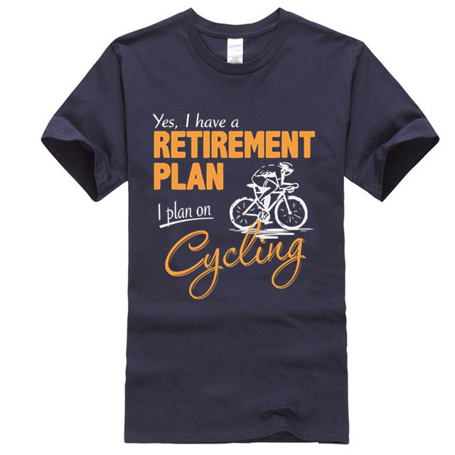 Cycling Retirement Plan Mens Funny Cyclist T-Shirt Road Racer Bike MTB Bicycle image