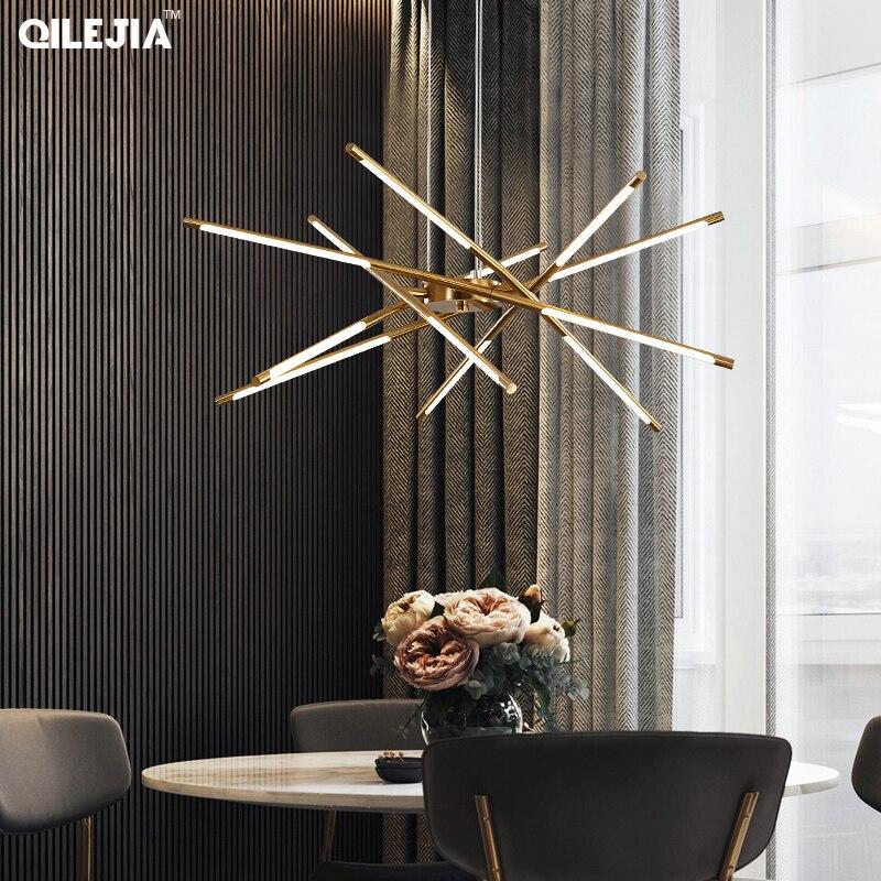 Современные светодиодные подвесные светильники черного/золотого цвета для гостиной, спальни, скандинавский подвесной светильник, подвесн...
