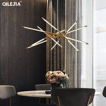 Modern LED Black/gold color pendant lights for the living room bedroom Nordic suspension fixture pendant lamp for the home