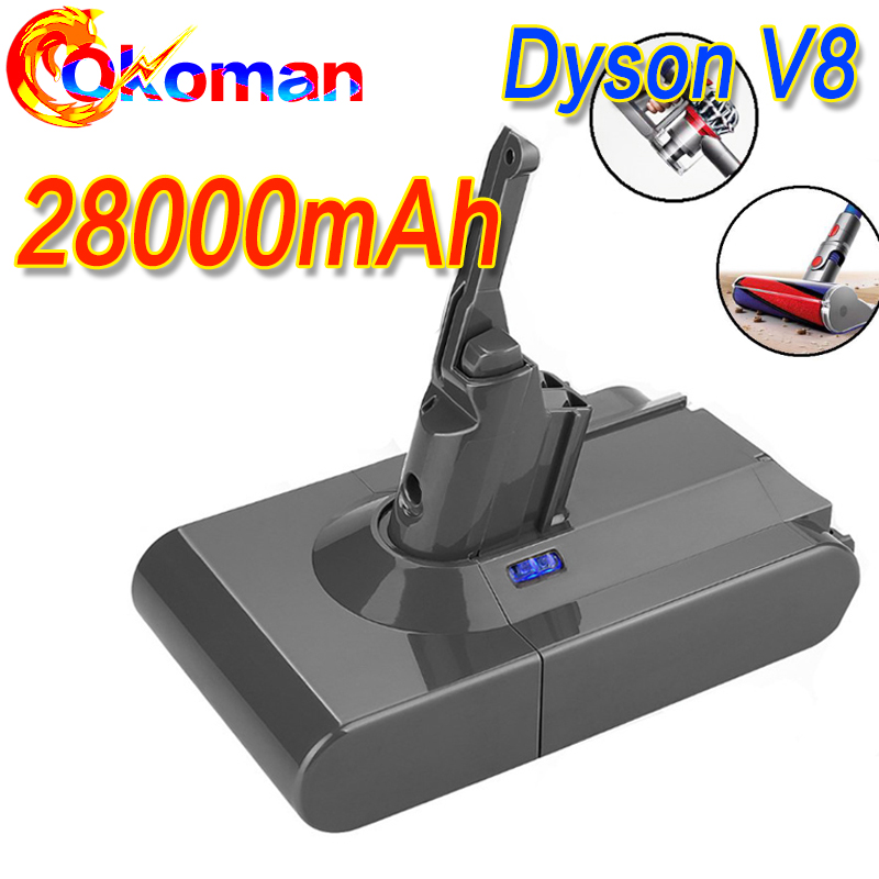 28000mAh 21.6V Battery For Dyson V8 Battery For Dyson V8 Absolute /Fluffy/Animal/ Li-ion Vacuum Cleaner Rechargeable Battery