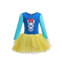 Christmas Girl Princess Dress Snow White Long Sleeve Halloween costumes kids