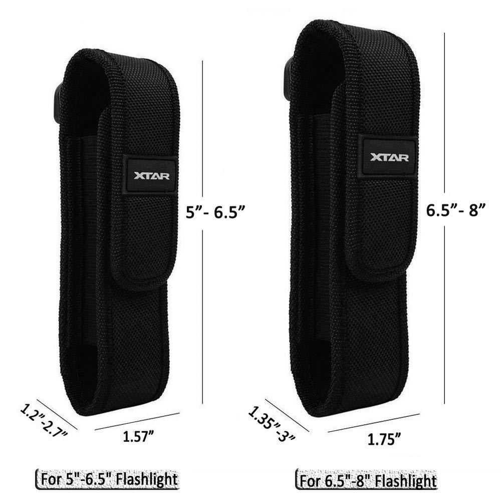 Hunting XTAR Flashlight Holder Torch Pouch Holster for XTAR TZ20 Surefire Black