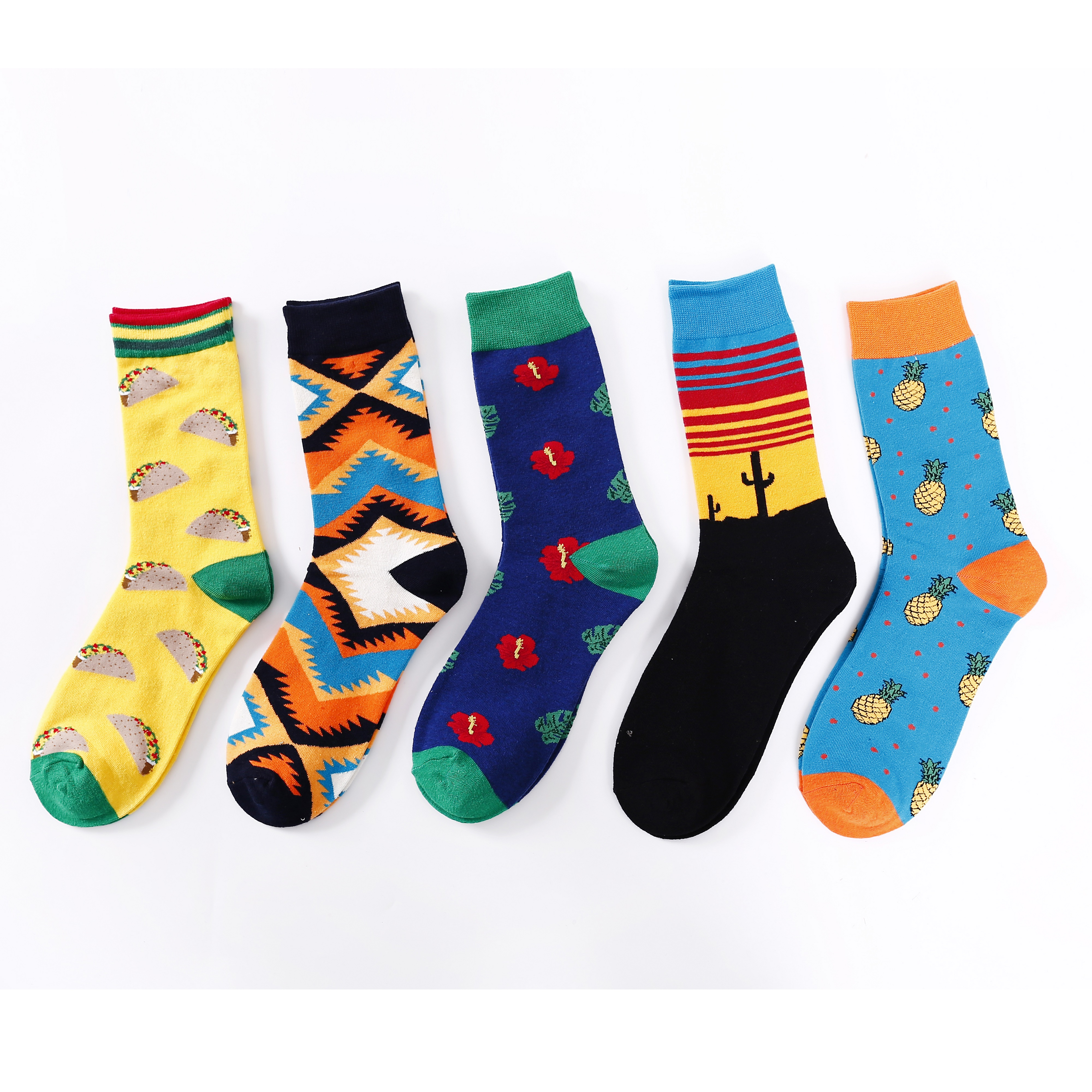 Men's warm cartoon socks casual socks men's sports socks non-slip breathable cotton socks funny socks fun socks happy men's sock