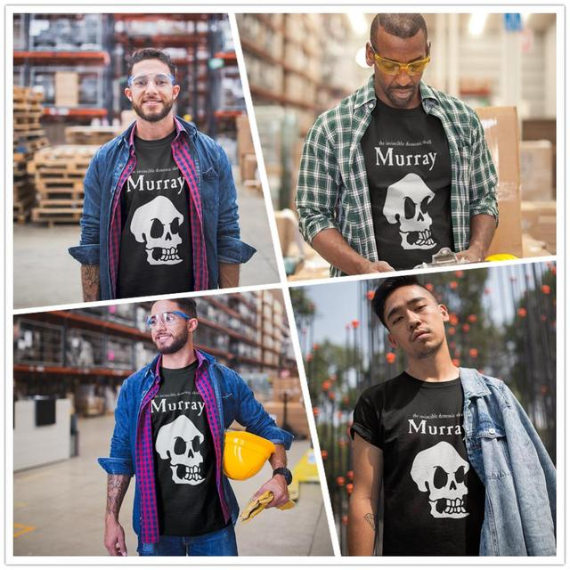 Île des singes T-Shirt île des singes Murray le crâne T-Shirt plage coton T-Shirt mignon imprimé mâle manches courtes T-Shirt