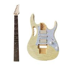1pc diy kit de guitarra elétrica folheado de água guitarra