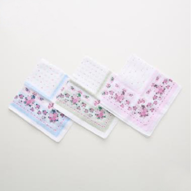 12pcs 35*35cm New 100% Cotton Handkerchiefs Business Women Handkerchief