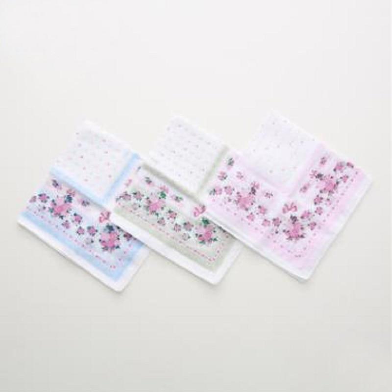 12pcs 35*35cm New 100% Cotton Handkerchiefs Business Women Handkerchief