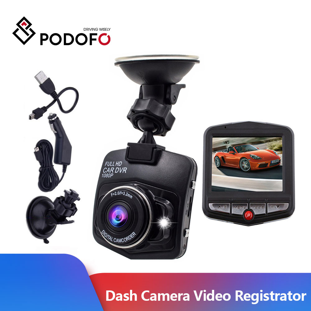 Podofo Mini Car DVR Camera Dashcam Video Registrator Recorder G sensor Night Vision Loop Recording Parking Recorder Dash Cam|DVR/Dash Camera| - AliExpress