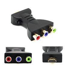 OULLX HDMI To 3 RGB RCA Video Audio Adapter RGB Component Converter For HDTV DVD New Digita