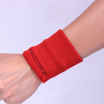 Outdoor Wrist Band With Key Card Bag Safety Wallet Storage Zipper Ankle Wrap Sport Strap Wrist Support