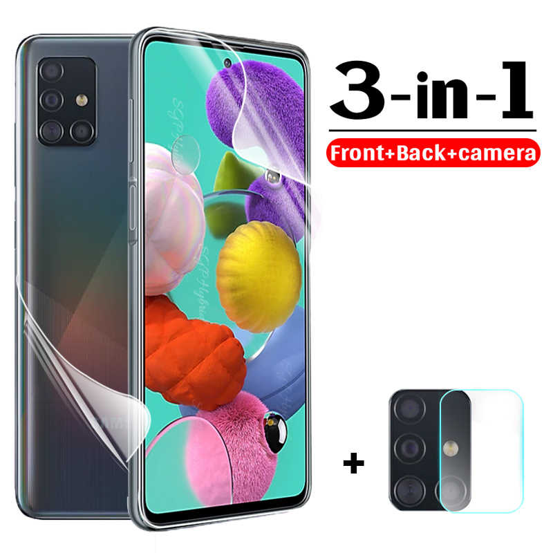 Voor + Back Hydrogel Film Voor Samsung S20 Ultra S20 Plus Screen Protector Voor Samsung A51 A71 A51 A71 51 71 M31 Camera Len Film