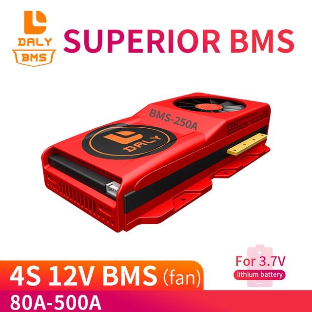 Daly Factory offre spéciale 12V Li ion BMS 4S 80A 200A 500A 12.8V 18650 batterie BMS Packs carte de Protection Balance Circuits intégrés
