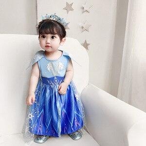 Image 2 - New Movie Frozen 2  Anna Elsa Party Princess  girls party dress  little girls dresses  christmas dress for baby girls