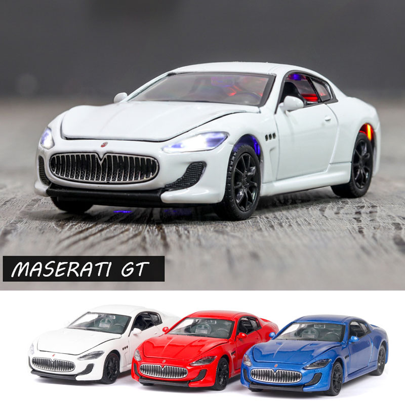 1:32 Maserati GT Car Model Alloy Car Die-cast Toy Car Model Sound And Light Children's Toy Collectibles Free Shipping